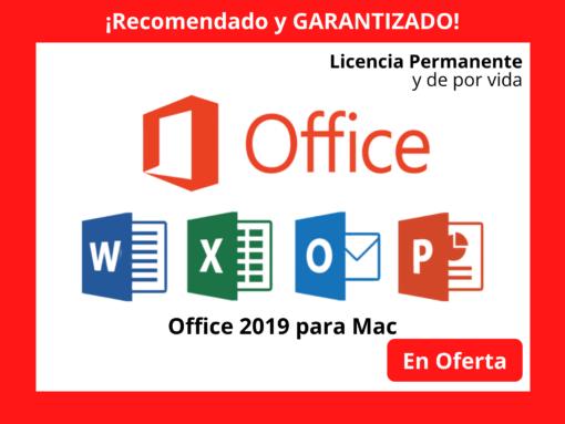 En Oferta hoy Paquetería Office para Mac